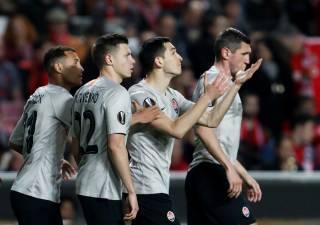 Лига Европы: «Шахтер» в голевой перестрелке с «Бенфикой» вышел в 1/8 финала