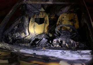 Автомобиль главного эколога Украины сожгли дотла