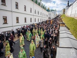 Тысячи верующих УПЦ отметили Собор всех преподобных Киево-Печерских