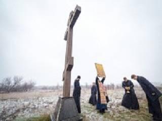 На въездах в Харьков митрополит и священники УПЦ молились об избавлении от коронавируса