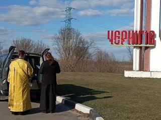 В Чернигове состоялся автомобильный крестный ход с мощами святителя Феодосия