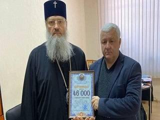В Запорожье УПЦ передала 46 тыс грн на ремонт аппаратов искусственной вентиляции легких