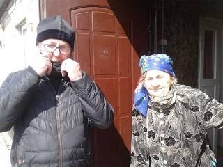 На Запорожье православные доставили пожилым людям продукты