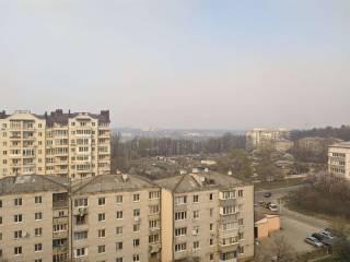 Сильный ветер несет дым от пожара под Чернобылем в Киев