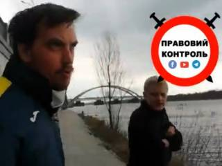 Появилось видео, как Гончарук и Шабунин «дружно» нарушили карантин