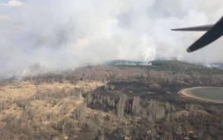 Пожар в Чернобыльской зоне потушен