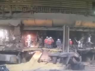Момент мощного взрыва на «Запорожстали» попал на видео