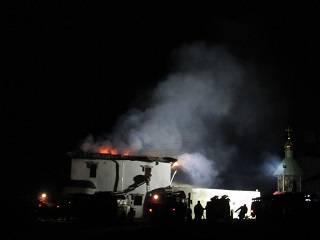 На Сумщине горел монастырь УПЦ