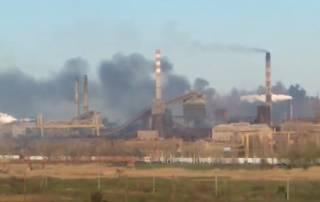 На комбинате «Азовсталь» в Мариуполе произошел крупный пожар