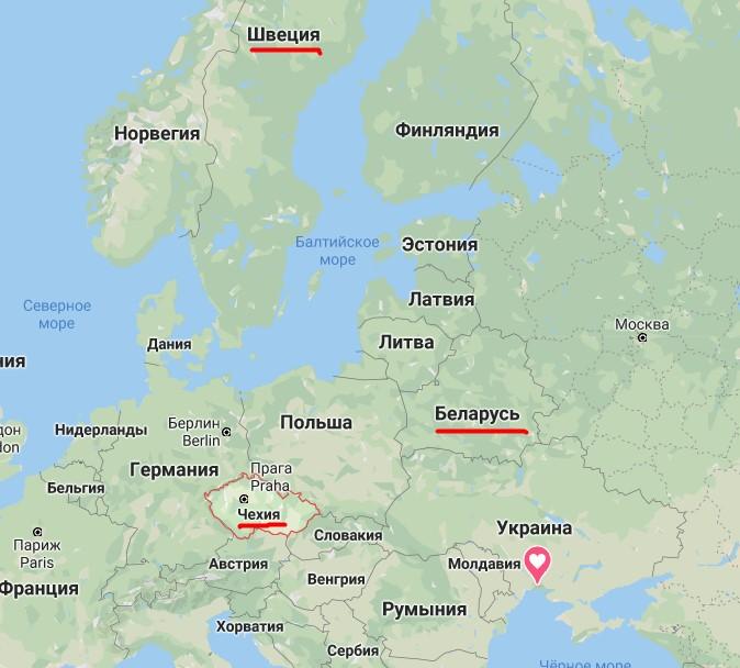 Границы Чехии, Швеции и Беларуси уже открыты
