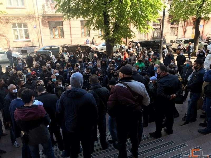Антикарантинный пикет работников рынков в Черновцах