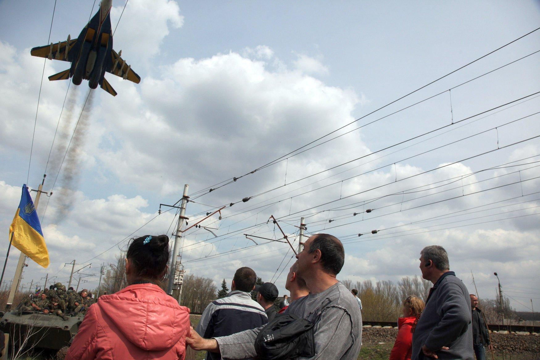 МиГ-29 114-й бригады тактической авиации в окраске «Украинских соколов»
