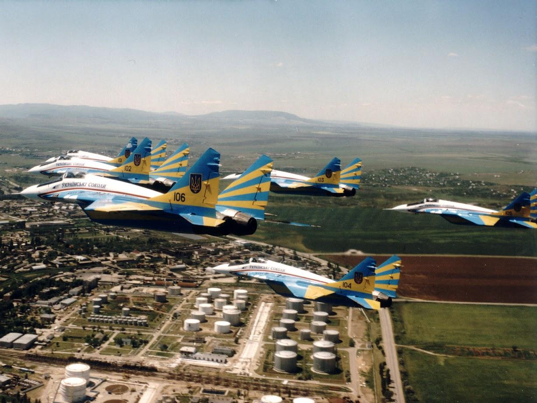 МиГ-29 пилотажной группы «Украинские соколы» в строю