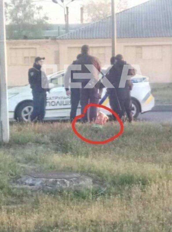 Полиция на месте преступления в Харькове