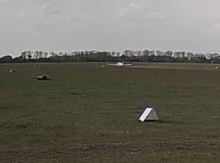 Момент крушения самолета под Днепром попал на видео