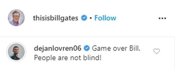 Ловрен: Игра окончена, Билл. Люди не слепы