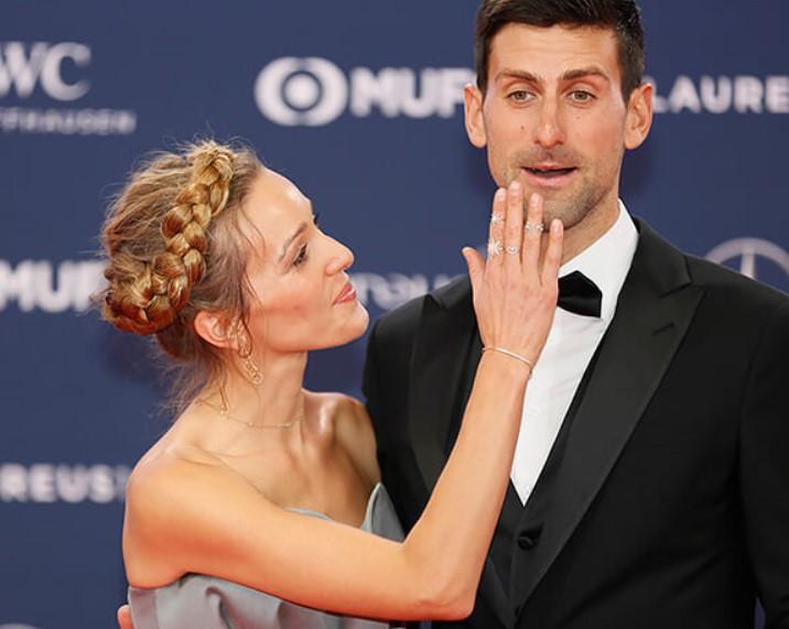 Елена и Новак Джокович
