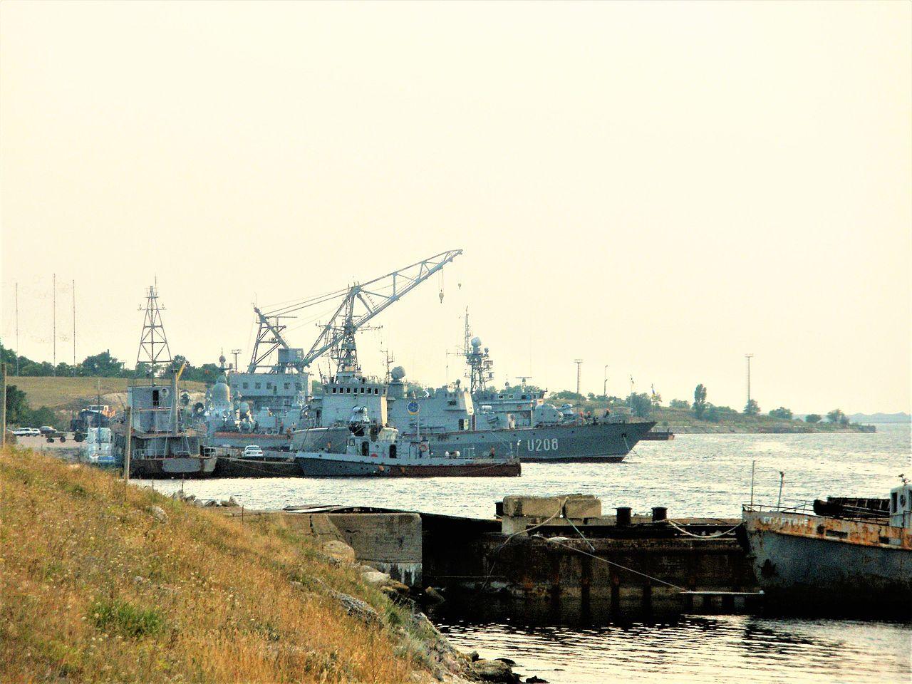 Причал Южной военно-морской базы Украины