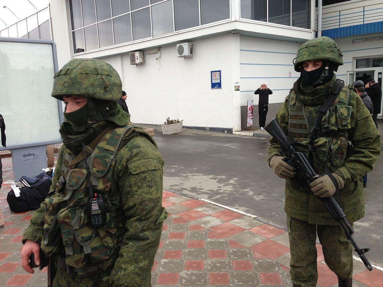 Российский спецназ в Крыму, март 2014