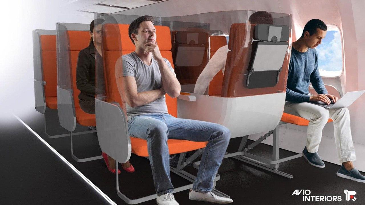 коронавирус - кресла в самолете разместят по новому