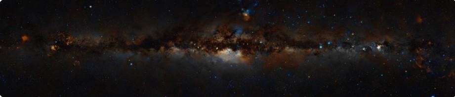 Млечный путь с Земли в видимом диапазоне