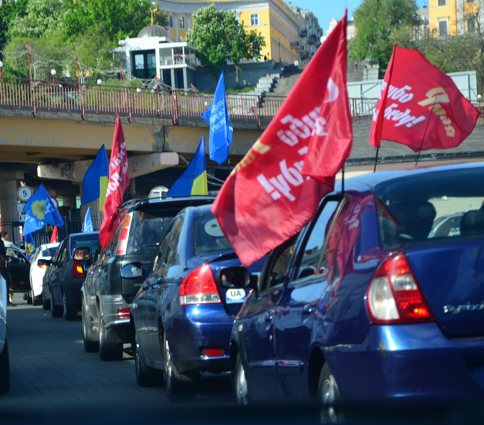 Автопробег в Одессе на 9 мая