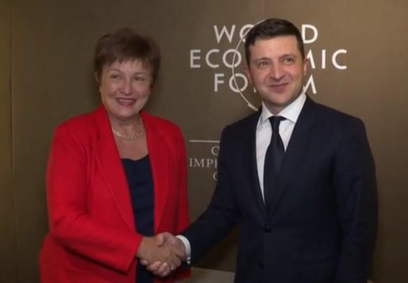 Владимир Зеленский с главой МВФ Кристалиной Георгиевой
