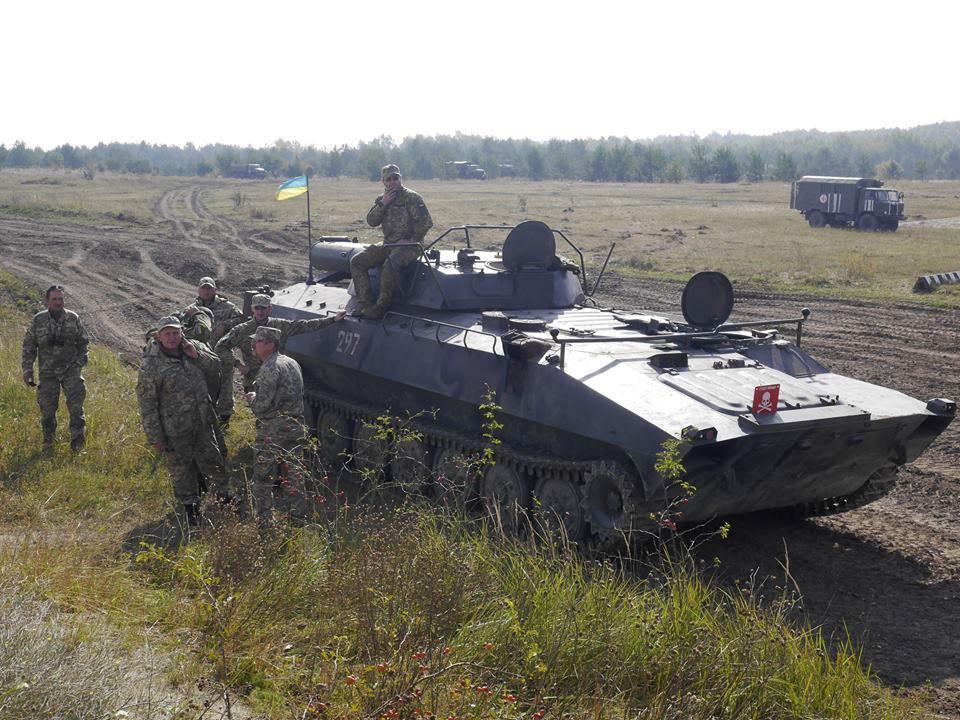 УР-77 в составе 24 механизированной бригады, 2016 г.