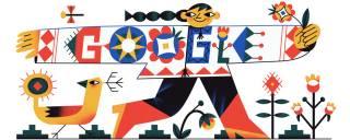 Google посвятил свой сегодняшний дудл украинской vyshyvank'е