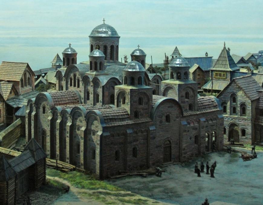 Десятинная церковь макет