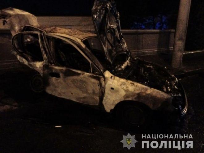В Харькове патрульный Toyota Prius попал в ДТП