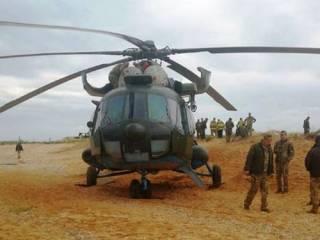 Вертолет ВСУ аварийно сел прямо на берегу Азовского моря