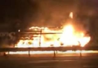 Жуткое ДТП под Киевом: водитель обуглился в горящем авто за считанные минуты (18+)