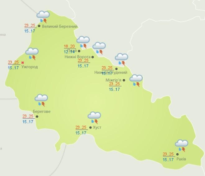 Погода на Закарпатье: прогноз синоптиков