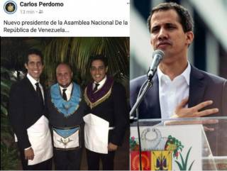 Самозванец-президент и член масонской ложи Гуайдо спрятался в посольстве