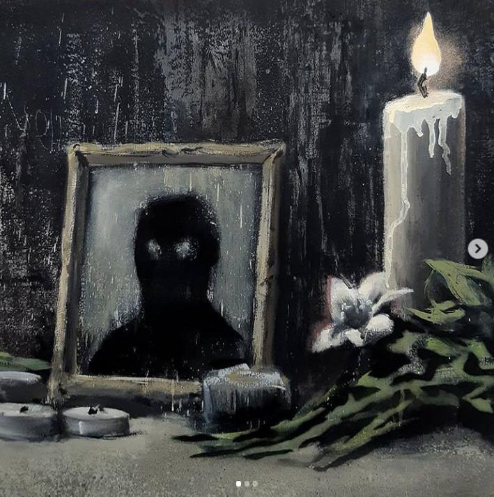 Фрагмент картины Бэнкси, посвященной движению Black Lives Matter в США