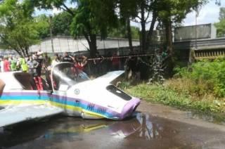 Самолет упал на шоссе в Одесской области
