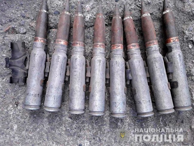 Боеприпасы с места преступления в Борисполе
