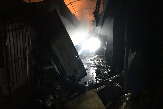 На Центральном рынке Кривого Рога бушевал пожар