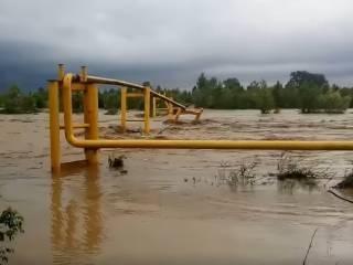 В Черновицкой области из-за наводнения произошло газовое ЧП