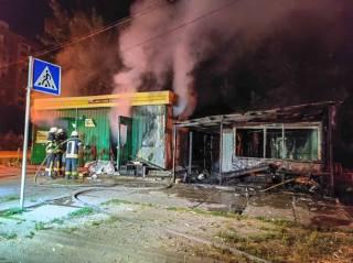 На одном из киевских рынков сгорела торговка