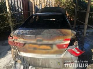 На Одесщине сожгли автомобиль крупного бизнесмена