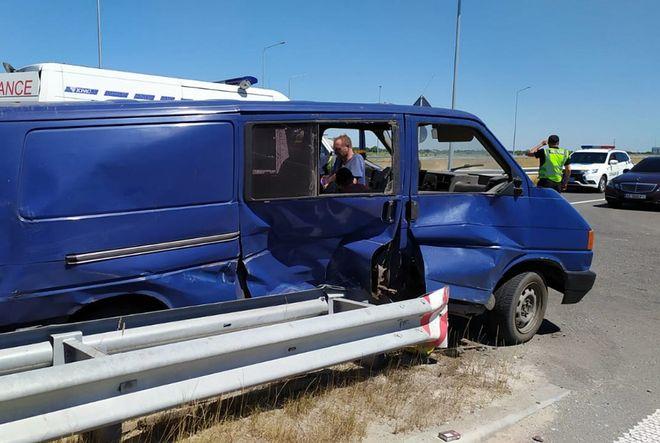 В Петриковском районе Днепропетровской области произошло ДТП с участием автомобилей Hyundai и Volkswagen