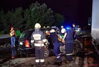 Лобовое столкновение на Полтавском шоссе: есть жертвы