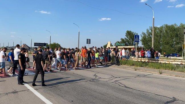 Акция протеста в Херсоне