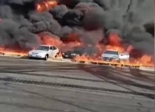 Люди заживо горели на шоссе в Египте после взрыва нефтепровода (18+)