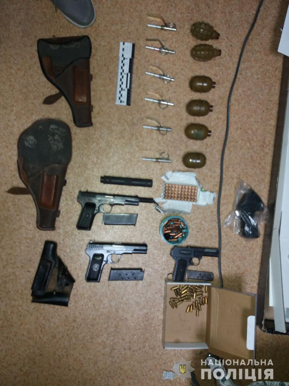 арсенал оружия сообщника луцкого террориста
