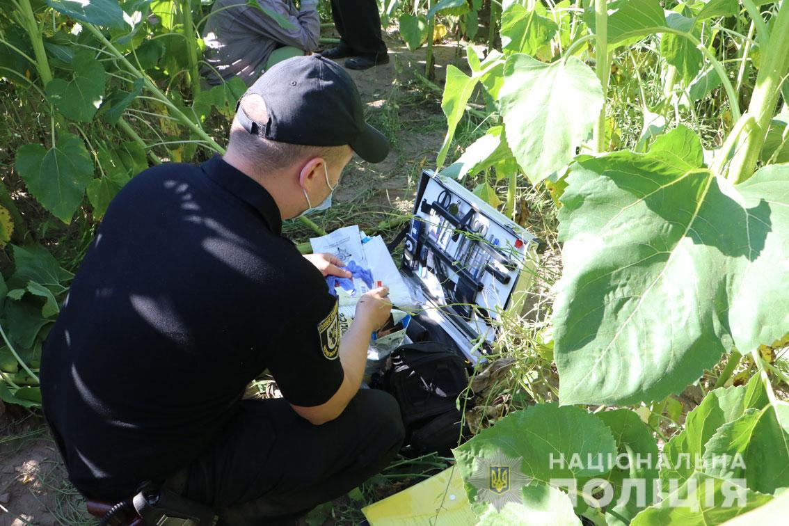 Место убийства 8-летнего мальчика под Черниговом