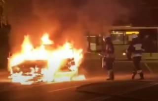 Появилось видео горящих автомобилей в Днепре
