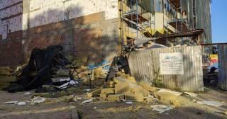 В центре Полтавы на строительстве многоэтажки произошел обвал